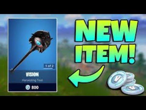 new vision shovel pickaxe gameplay use code drewqua ps4 og fortnite player gameplay live - fortnite pickaxe shovel with eye