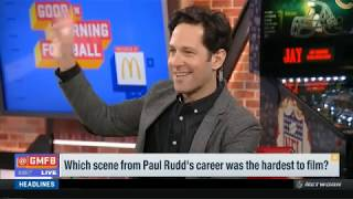 Which scene from Paul Rudd's career was the hardest to film? | Good Morning Football