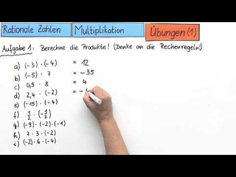rationale zahlen multiplikation bungen 1 mathematik zahlen und rechnen youtube. Black Bedroom Furniture Sets. Home Design Ideas