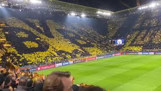 Dortmund Ultras Choreografie BVB vs PSG Germain ParisChampions League Dortmund Westfalenstadion