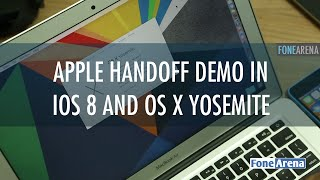 Apple Handoff Demo in iOS 8 and OS X Yosemite