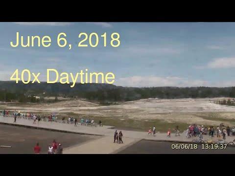June 6, 2018 Upper Geyser Basin Daytime Streaming Camera Captures