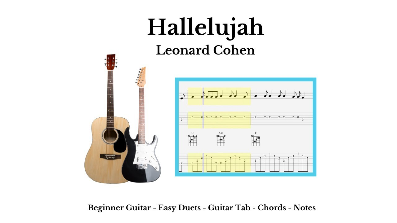 Guitar Tab Chords Hallelujah Acoustic Youtube