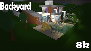 Modern Home Backyard 8k New Bloxburg Outdoor Items Youtube