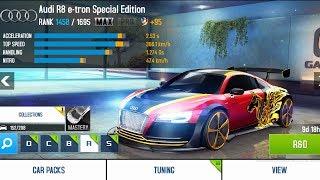 Asphalt 8 - Upgrading Audi R8 e-tron Special Edition (MAX)