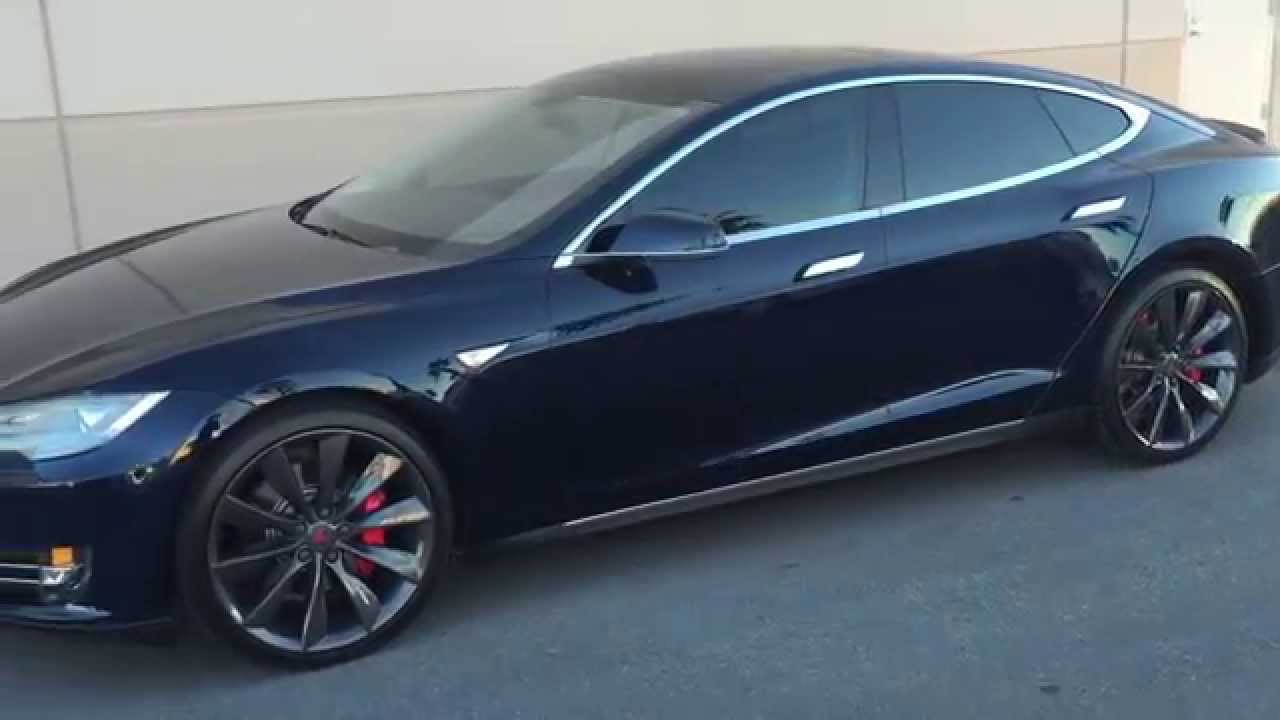 Tesla Model S Blue P At Celebrity Cars Las Vegas YouTube - 2014 tesla model s