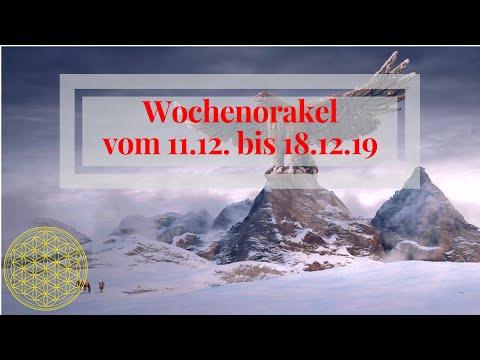 Wocheorakel vom 11.12. bis 18.12.19 / Vollmond / Botschaft Orakel für den Dezember