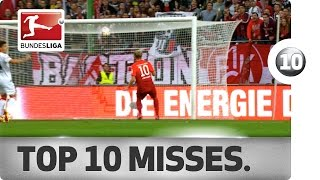 top 10 misses a countdown of the worst misses so far this bundesliga season