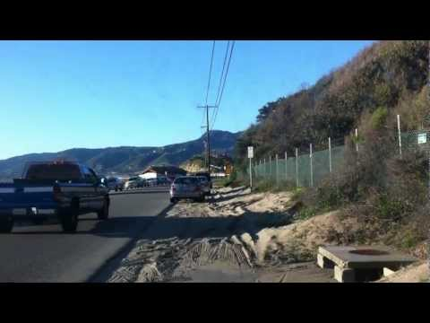 Driving through malibu, arriving at Malibu Beach (Two and a Half Men!)