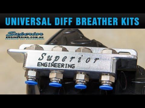 Diff Breather Kit 2 Point Universal Landcrusier FJ Crusier Hilux