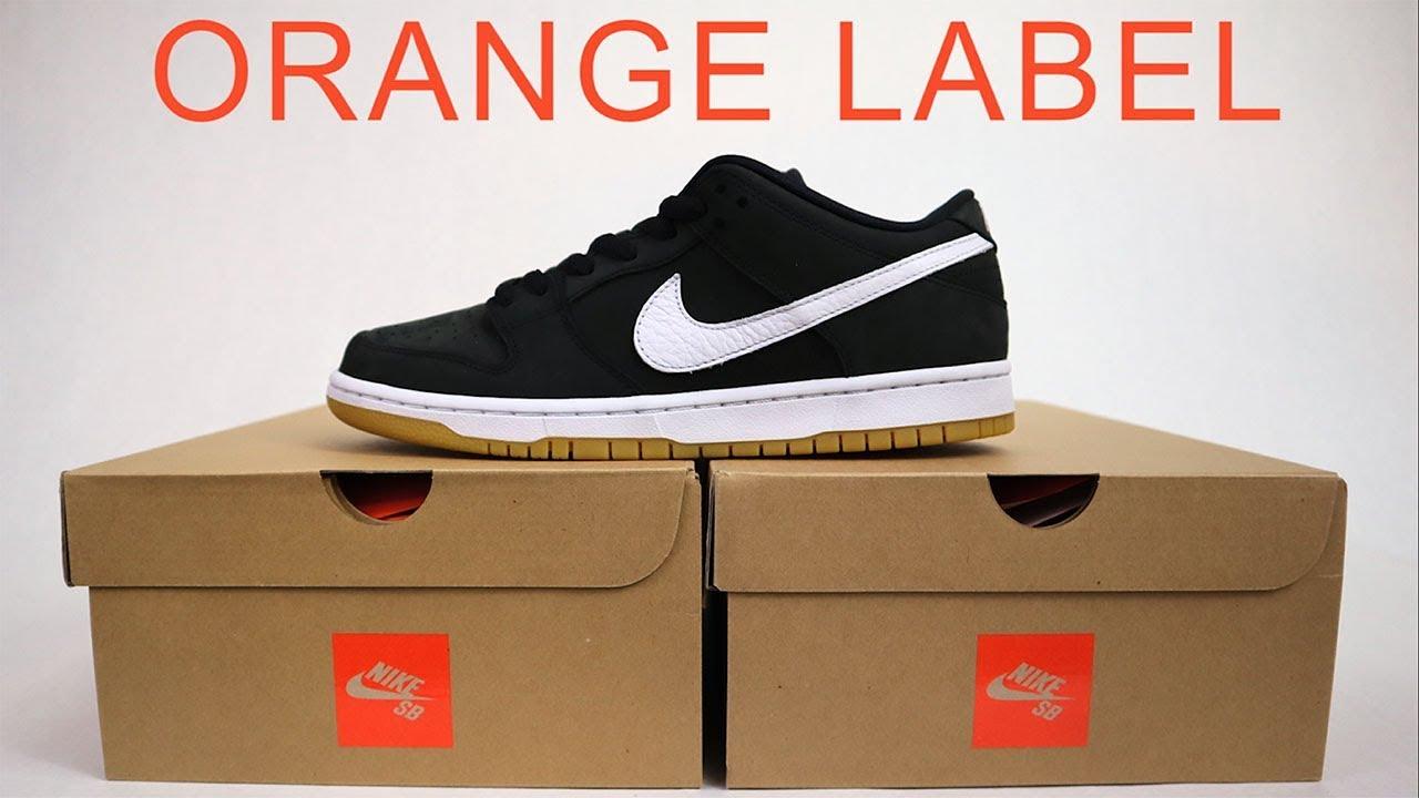 ad9ffeae NIKE SB ORANGE LABEL'   New Skateshop Only Line - YouTube