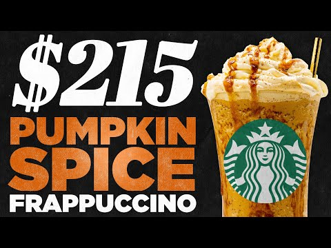 $215 Starbucks Pumpkin Spice Frappuccino Taste Test | FANCY FAST FOOD