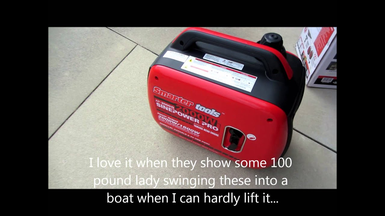 Smarter tools ap2000iq inverter generator youtube for Honda vs yamaha generator