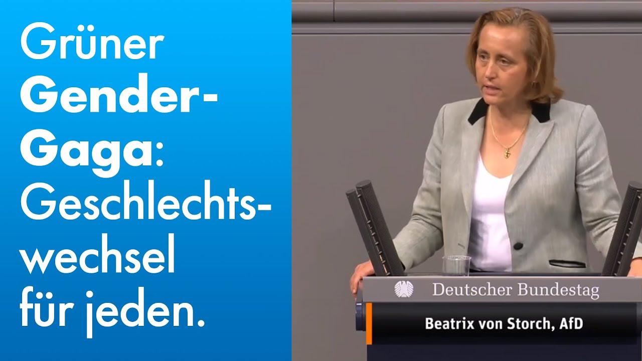 Beatrix von Storch (AfD) - Grüner Gender-Gaga: Geschlechterwechsel für jeden