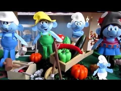 Decoração Smurfs - Gotinhas de Arte Artesanato