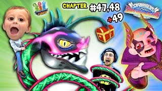 BABY HYDRA SO CUTE!!  Lets Play SKYLANDERS SUPERCHARGERS Chapter 47, 48 & 49:  THE SKY EATER!