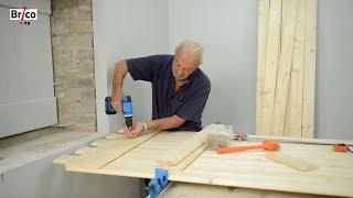 Fabrication et pose d'un volet en bois - Tuto brico de Robert comment fabriquer un volet en vois