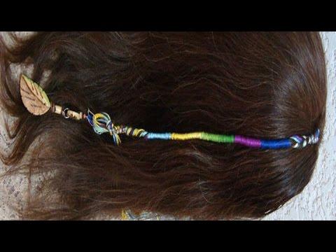 Diy Rainbow Braid Hairstyle Trenza De Hilo Arcoiris