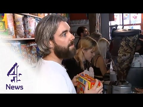Cereal cafe stops interview over price questions | Channel 4 News
