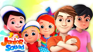 Finger Family Song For Kids | Nursery Rhymes For Kids | Children Songs By Junior Squad