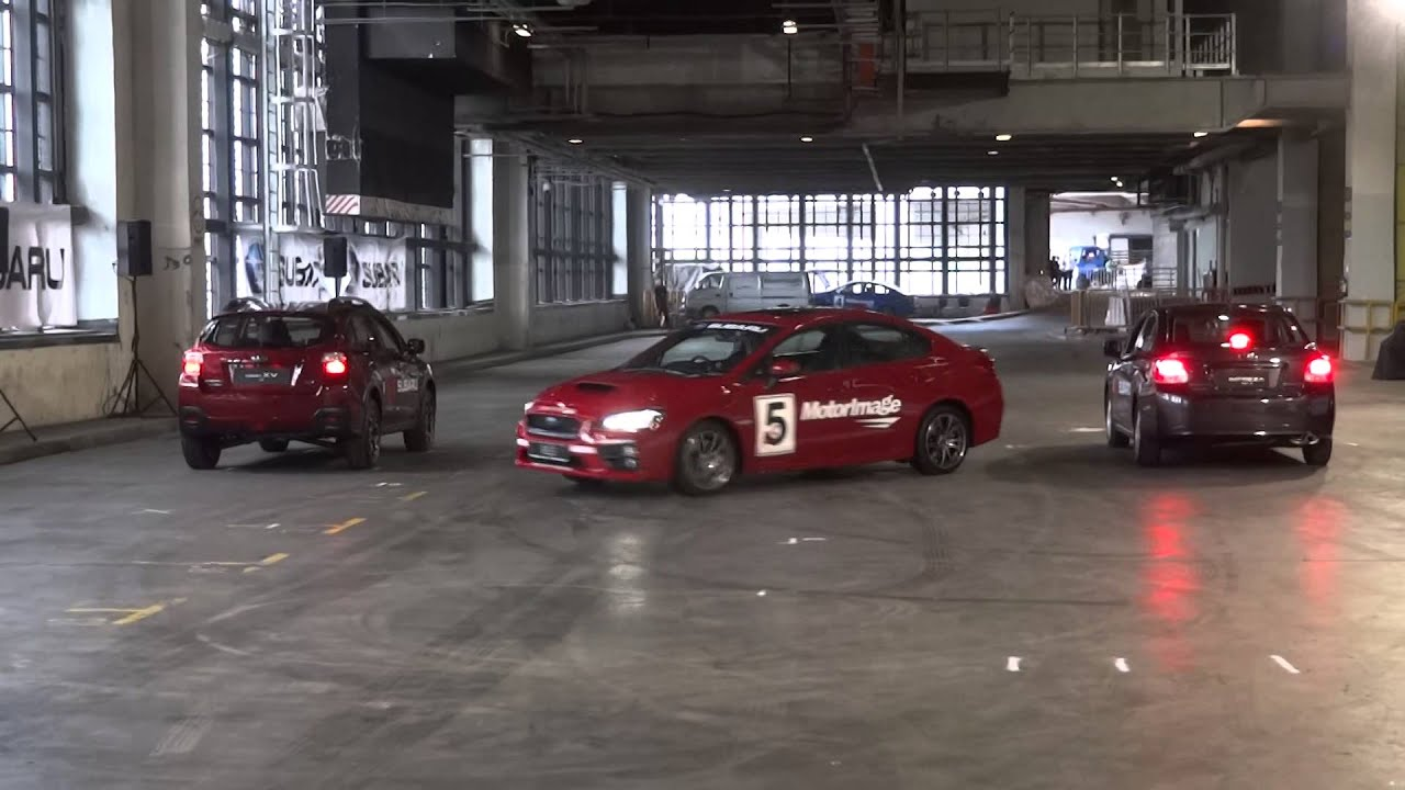 Russ Swift Car Stunt Performance - J-Turn and Reverse Parking ...