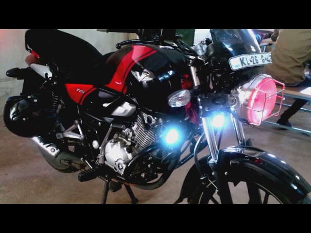 Bajaj v 15 grilled round head light with projector and angel