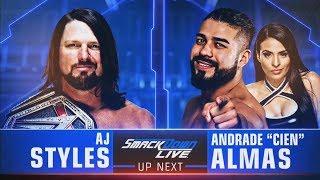 WWE 2K18 Smackdown 9/18/18 AJ Styles Vs Andrade Cien Almas