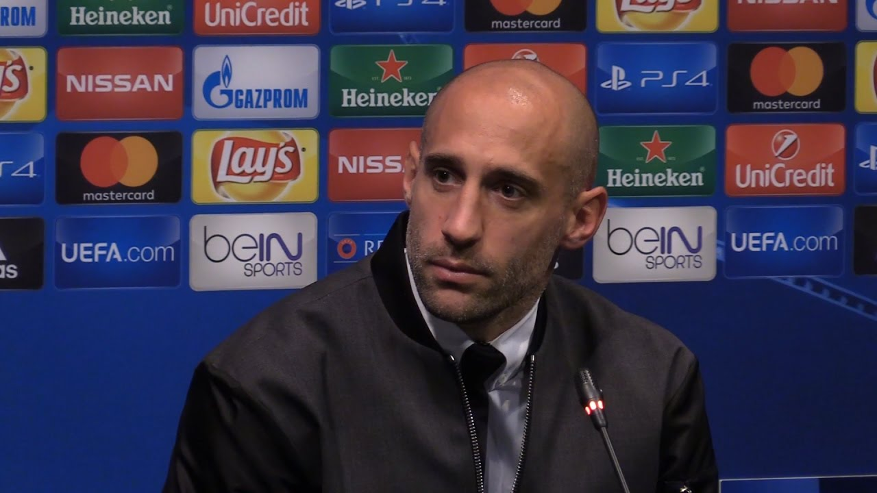 Pablo Zabaleta Full Pre Match Press Conference Barcelona v