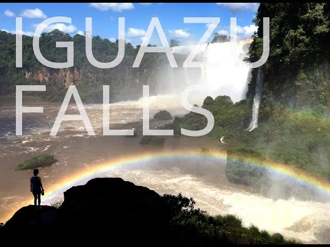 Iguasu falls, Argentina and Brazil,. Travel film