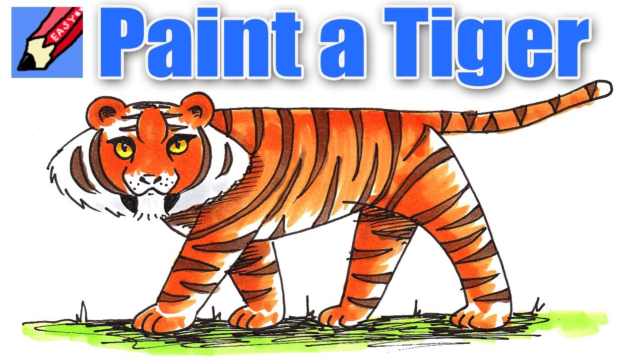learn to paint a tiger real easy youtube