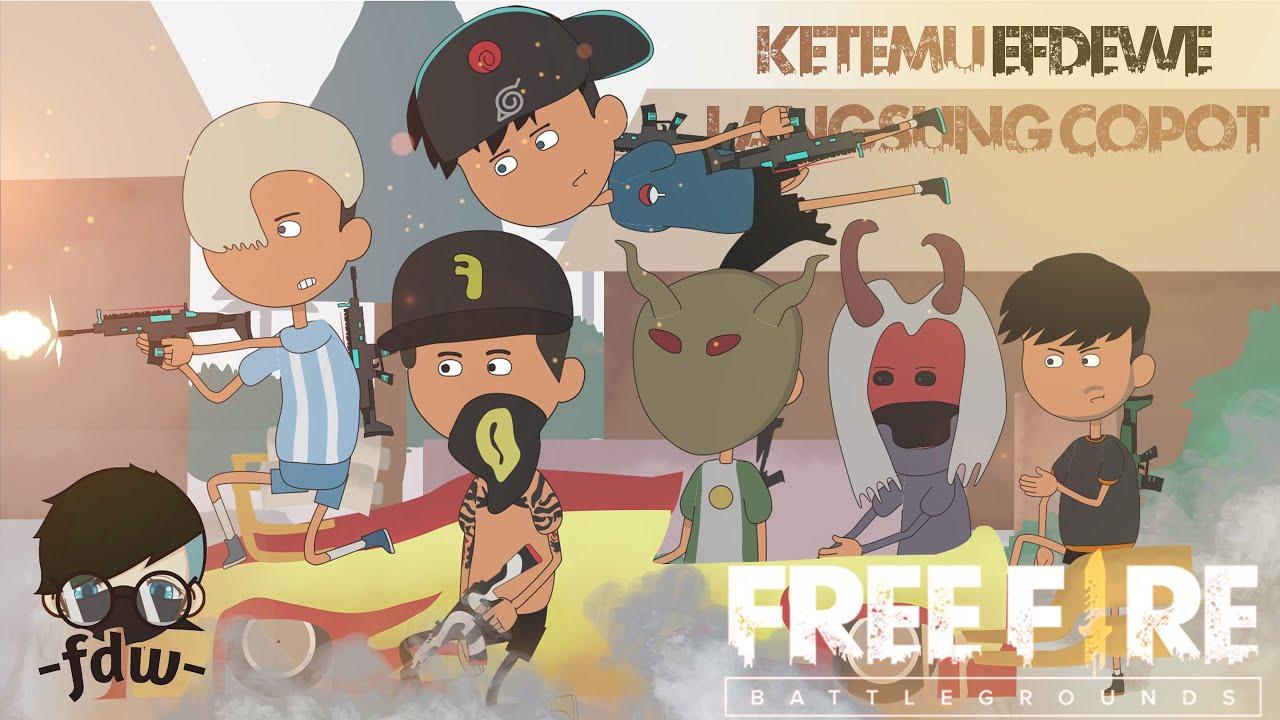 animation free fire - ketemu efdewe baru turun langsung copot - film animasi free fire