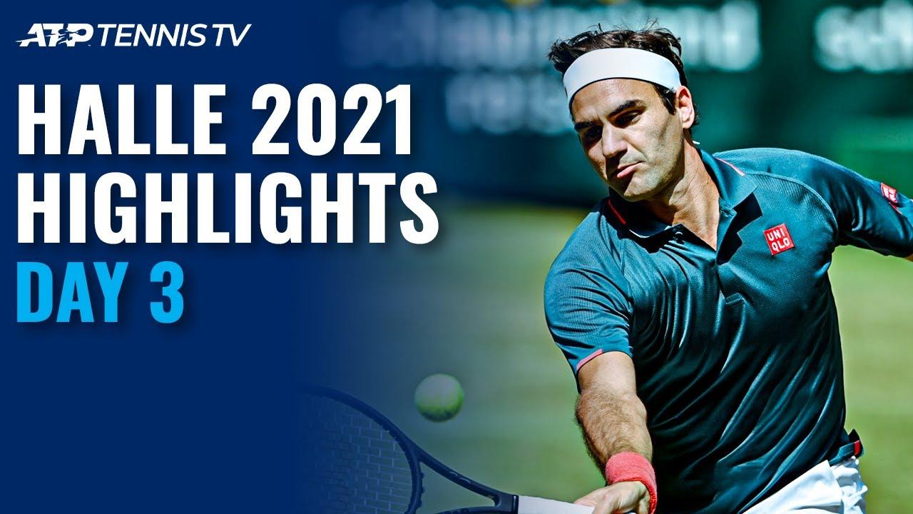 Federer battles Auger-Aliassime; Rublev and Struff in Action | Halle 2021 Highlights Day 3