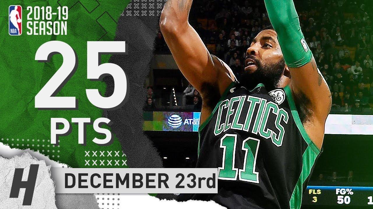 Kyrie Irving Full Highlights Celtics vs Hornets 2018.12.23 - 25 Pts ... 9a9d782fc