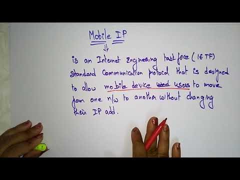 Mobile Ip In Mobile Computing |  Design Goals | Lec-37 | Bhanu Priya
