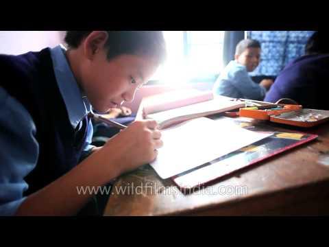 Children at work: Students of various classes in Ziro