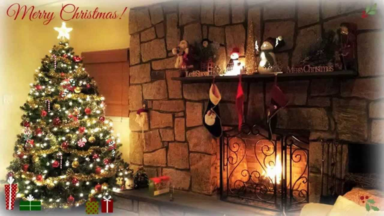 Christmas Songs Playlist With Cozy Fireplace - YouTube