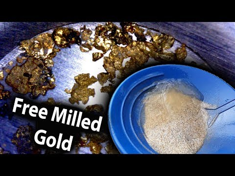 Free Milled, Hard Rock Gold, Recovered With The Icon I150 Concentrator.