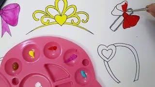 Dạy vẽ cho bé - Dạy bé vẽ phụ kiện cho tóc xinh xắn