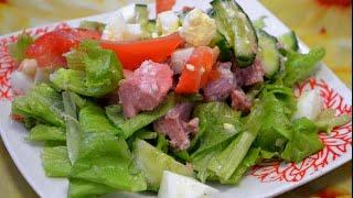 Простой салат с тунцом./Simple tuna salad.