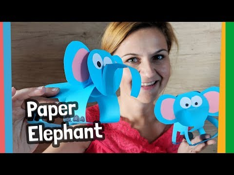 Easy DIY for kids - Paper Elephant Craft