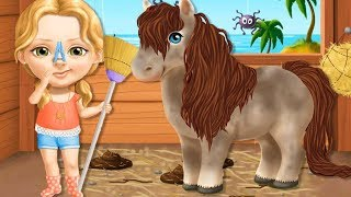 Fun Baby Care Kids Game   Sweet Baby Girl Summer Fun 2   Play Animal Horse Care BBQ Boat Party
