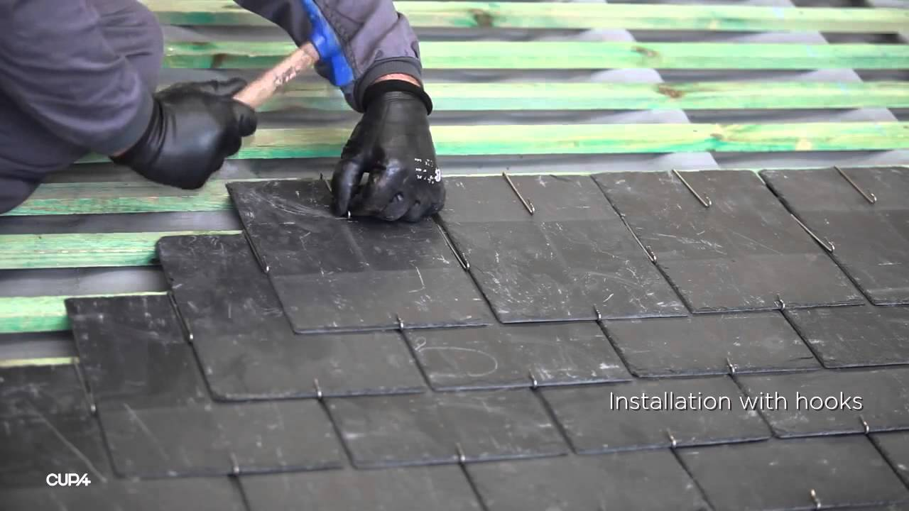 Installing A Natural Slate Roof Youtube