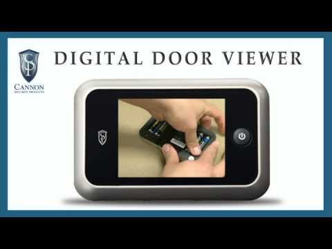 Cannon Security Products Ddv C 01 Lcd Peephole Door Viewer