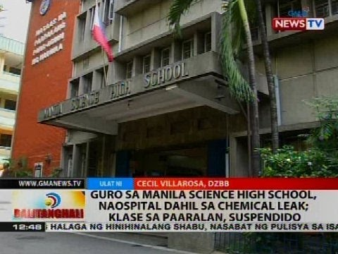 Guro sa Manila Science High School, naospital dahil sa chemical leak