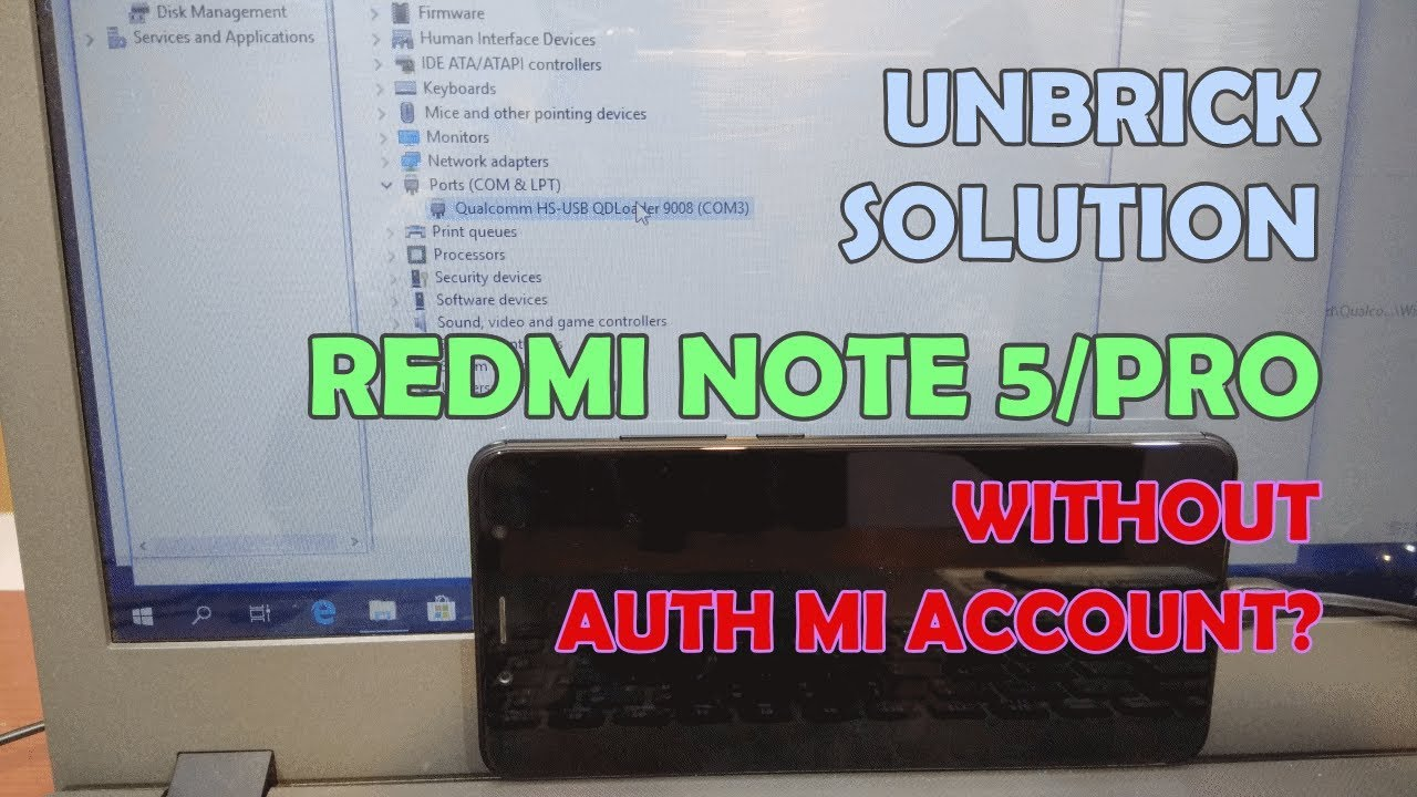 Cara Unbrick Redmi Note 5 Anti Roll Back Bypass Authorized
