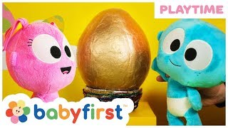 Golden Giant Surprise Egg | Goo Goo Pretend Play with Surprise Eggs Toys & Kinetic Sand | BabyFirst