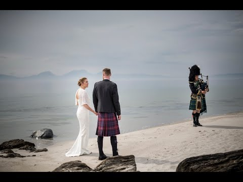 Exclusive Use Romantic Beach Wedding Venue, Crear on the West Coast of Scotland