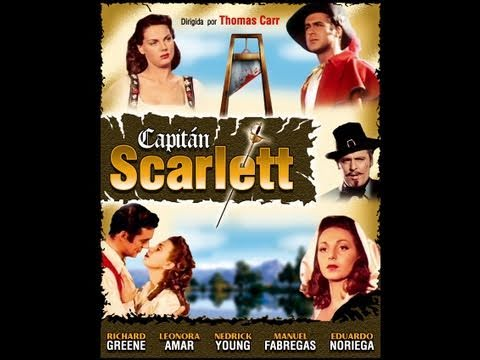 CAPITAN SCARLETT (CAPTAIN SCARLETT, 1953, Full Movie, Spanish, Cinetel)