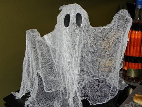 Diy fantasma cheesecloth ghost decoracion para for Decoracion de halloween