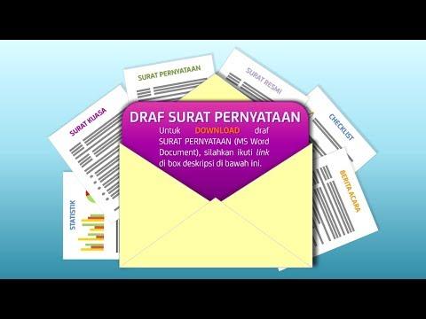 Download Draf Surat Pernyataan